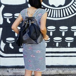 **SALE** Beautiful Black & Gray Backpack/Purse
